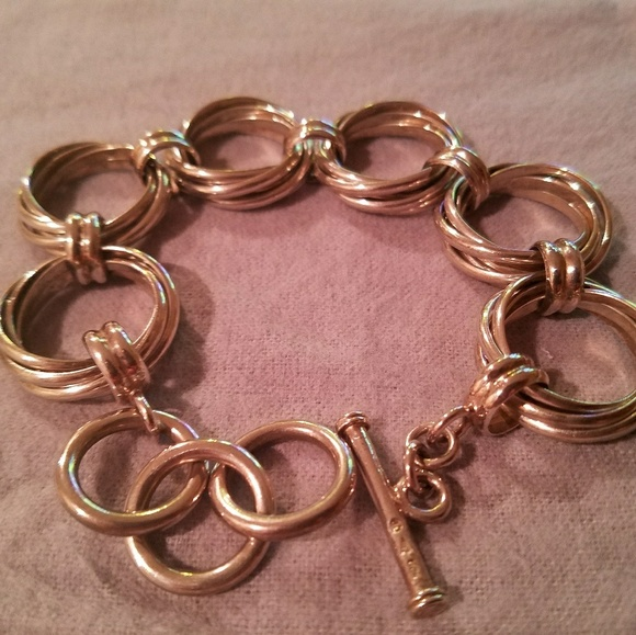 Silpada Jewelry - Silpada multi circle link sterling silver bracelet